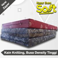Kasur Busa Super Soft Tebal 14 cm Kain Knitting Zipper - 90 x 200 cm