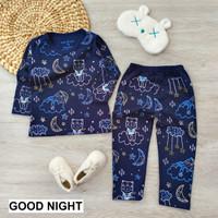 Baju setelan anak bahan katun adem baju santai baju tidur cowok cewek