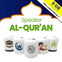 SPEAKER QURAN 30 JUZ LAMPU LED WARNA + Chip Memory Murottal Al Quran - Random, 8GB