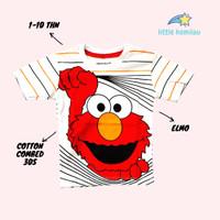 Kaos Baju Anak Karakter Hi Elmo Fullprint PREMIUM Cotton Combed 30s