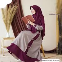 Baju Gamis Set Syari Remaja Dewasa Muslim Wanita Set Khimar Terbaru