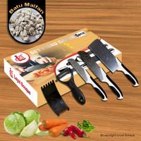 COD-Knife Set 5 Pcs + 1 Ceramic Peeler ( J13 )