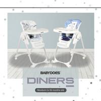 Kursi Makan Bayi Baby High Chair BabyDoes CH-012BP Diners /Beige /Grey
