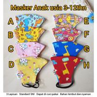 Masker Kain Baby Anak Dan Dewasa 3ply Lapisan Kid Mask Protect Premium