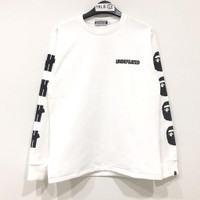 Bape x Undefeated Long Sleeve T-shirt 2 White 100% Original