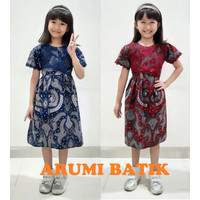Dress Baju Batik Sekolah Anak Perempuan Balita TK SD PAUD BALITA 2927