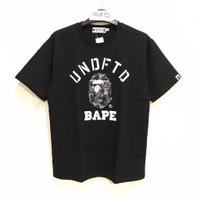 Bape x Undefeated College T-shirt Black 100% Original - L