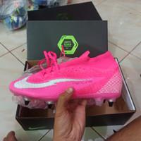 sepatu bola nike mercurial superfly7 mbappe rose pink anti clog fg