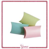 Pillow Box Kotak Kado Souvenir Perhiasan Bingkisan Warna Pastel