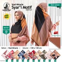 Jilbab Segi Empat Big Size Voal Miracle Jumbo Syari Laser Cut Motif 2