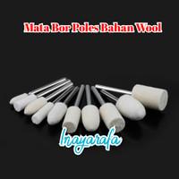 Wool Polisher Mata Bor Poles Bahan Wool Mini Grinder Tuner Poles