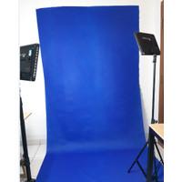 KAIN BLUE SCREEN UNTUK BACKDROP / BACKGROUND 75GSM BIRU TUA