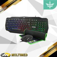 Paket Keyboard Mouse MousePad Gaming Artemis NYK KC 200