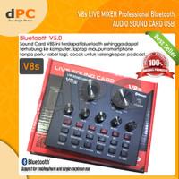 V8s Bluetooth Audio USB External Soundcard Live Broadcast Microphone