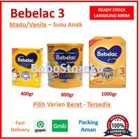 BEBELAC 3 MADU/VANILA (400gr/800gr/1000gr) - SUSU BUBUK ANAK