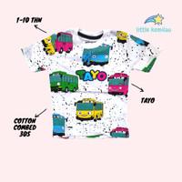 Kaos Baju Anak Karakter Tayo Fullprint PREMIUM Cotton combed 30s