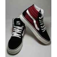 Sepatu Sneakers Vans Old Skool boots Tinggi Hitam Maron