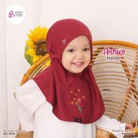 Jilbab Bergo Anak Perempuan tali bayi 0 6 bulan Azkia Hijab Aishwa