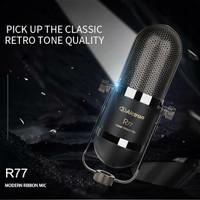 RIBBON CONDENSER MICROPHONE ALCTRON R77 RECORDING VOCAL ASMR