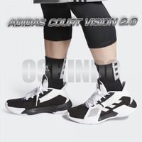 Sepatu Basket Adidas Court Vision 2 Putih Hitam Original Asli