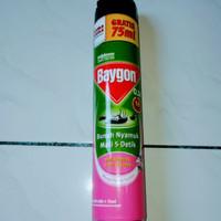 baygon anti nyamuk, lalat dan kecoa 600 + 75 ml