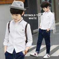 MILANBERRY REYNOLD TOP WHITE kemeja formal anak laki import pesta