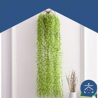 Daun Rambat Palsu Tanaman Hias Indoor Pot Bunga Artificial Dekorasi