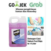 Detergen Cair Snap Clean Liquid Detergent Sabun Baju isi 4 Liter