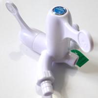 Kran Air Cabang PVC 1/2 Soligen Engkol / Keran Taman Plastik (D4187)