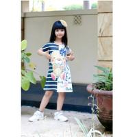 Dress Baju Tidur Santai Import Korea Anak Perempuan Cewek Umur 2-13 Th
