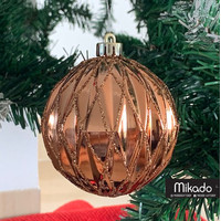 Christmas Balls 8cm / Hiasan Pohon Natal / Bola Natal LR Diamond