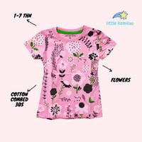 [PREMIUM] Baju Kaos Atasan Anak Bayi Balita Motif Bunga Fullprint