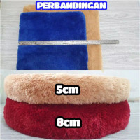 SUPER EMPUK Bantal/Alas Duduk Tebal Busa 8cm & 5cm Bulat/Kotak Kursi