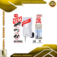 Antena TV Digital Analog PX DA-5900 Kabel 12M Booster Indoor-Outdoor