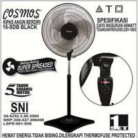 kipas angin berdiri cosmos 16 inch sdb black terbaru