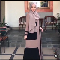 Exclusive Abaya Bordir Fahira By Salaf Boutique Bahan Jet Black