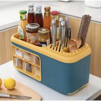Mk16 Multifunctional kitchen shelf Rak bumbu dapur serbaguna dgn 6laci