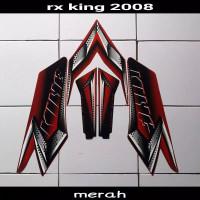 Striping sticker lis body yamaha rx king new thn 2008 2009 merah