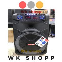 Speaker portebel wireless Asatron HT 8881 UKM 15 inch handhel Original