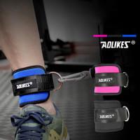 AOLIKES 7129 ANKLE LEG STRAP Weight Lifting Beban Kaki Ring Strap Gym