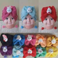 Turban bayi Pita boneka Anting Pom-Pom Usia 0-3Th / Aksesoris Rambut