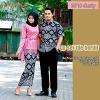 Batik Couple Kebaya Brukat Setelan Atasan Wanita Muslim Remaja Modern
