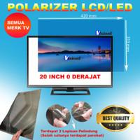 Plastik Polarizer LCD 20 Inch 0 Derajad Polariser 20 Inchi Pol
