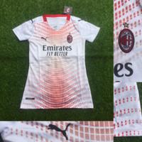 Jersey Kaos Baju Bola Cewek Ladies Milan Away Putih 2021 Grade Ori