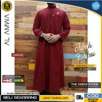 Baju Jubah Gamis Sholat Muslim Pria Premium Original AL AMWA TDA-JU019