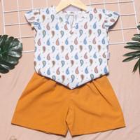 setelan baju bayi perempuan 6 12 bulan rayon boho