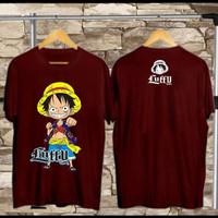 T-shirt Luffy Boxing / Baju Kaos Distro Pria Wanita Cotton 30s