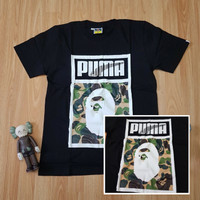 Kaos Bape Camo Logo x Puma Premium Branded T-shirt