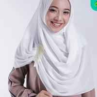 Zoya Kerudung Jilbab Segi Instant - Majida Instant Scarf White