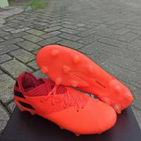 Sepatu Bola Adidas Nemeziz 19.1 Orange Black FG